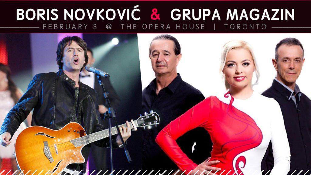 Boris Novkovic i Grupa Magazin | Toronto | FEB.03.2018