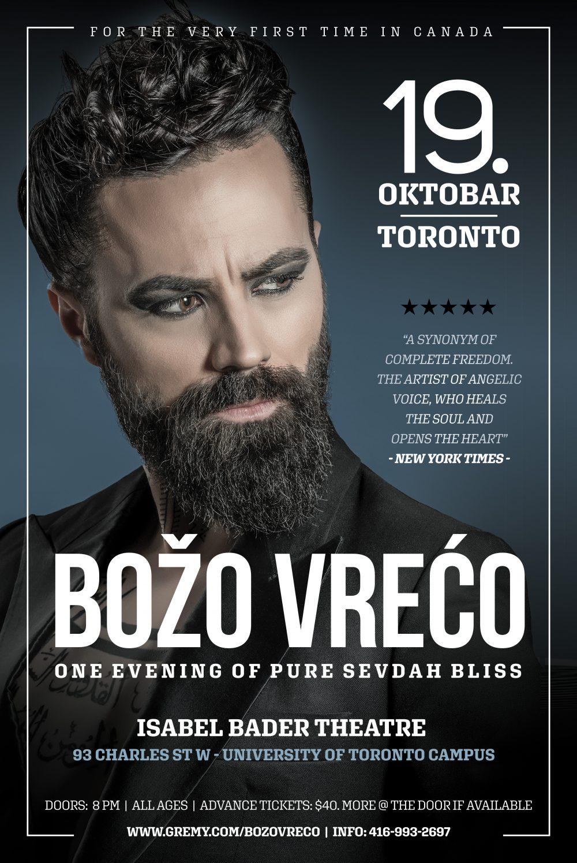 BOŽO VREĆO - live in Toronto
