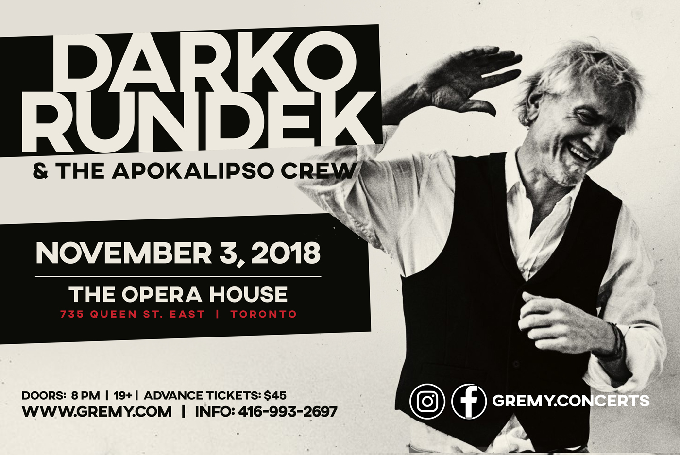 DARKO RUNDEK & Apokalipso Crew - Toronto 2018
